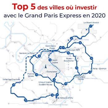 Top 5 des villes où investir avec le Grand Paris Express en 2020